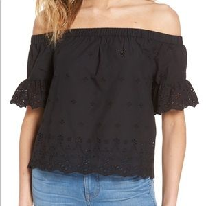 Madewell Eyelet Off-the-Shoulder Top